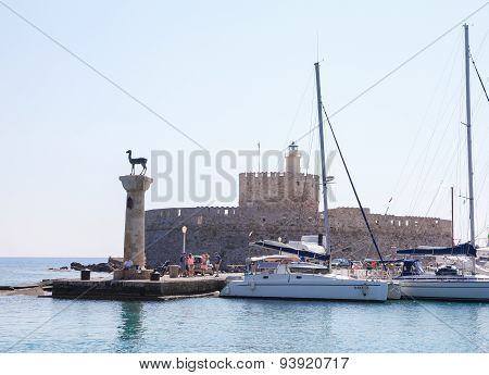 Rhodes Harbour, Dodecanese, Greece