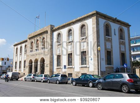 Central Bank Of Greece On Rhodes Island, Greece