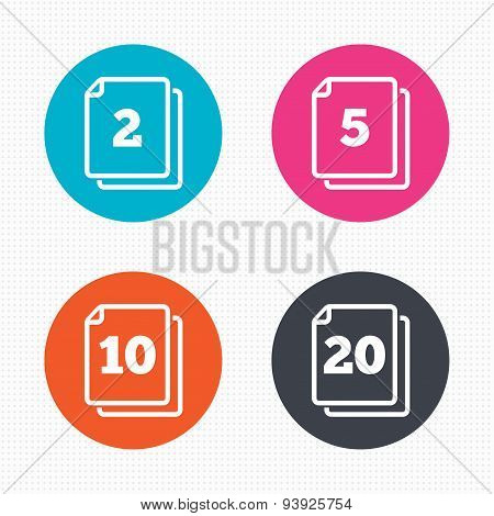 In pack sheets icons. Quantity per package.