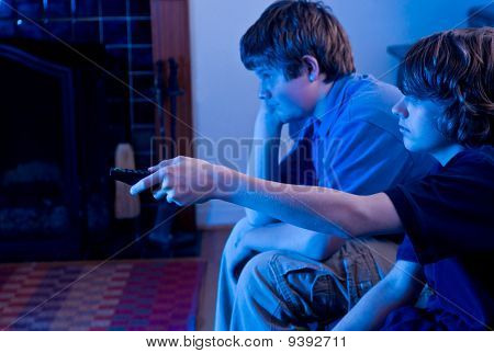 boys bored with TV
