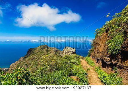 Pathway Or Footpath In Green Mountai