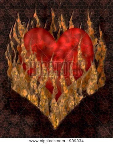 Smoldering heart 1