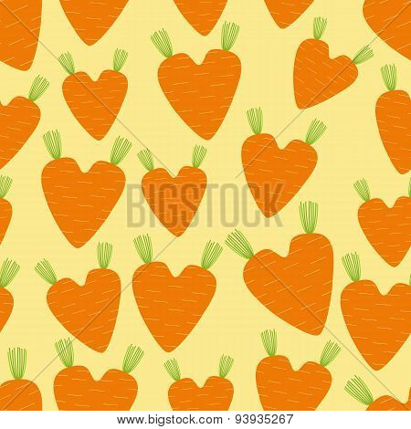 Pattern With Carrot Hearts