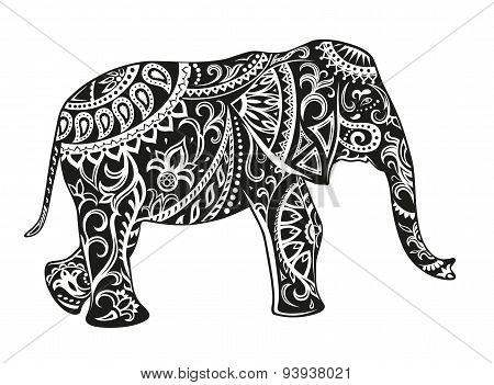 Ethnic Ornamented Elephant