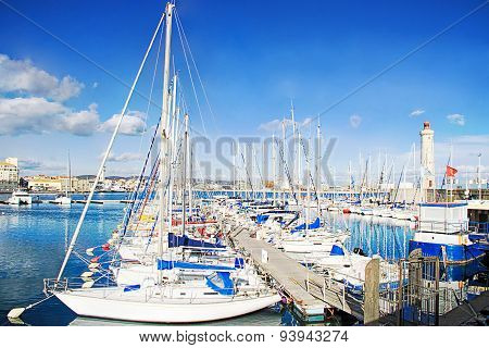 Harbor Of Sete, Languedoc, - South Of France