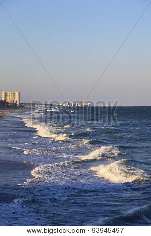 Myrtle Beach with Ocean Waves