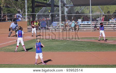 A Summerlin Little League Girls Softball Game