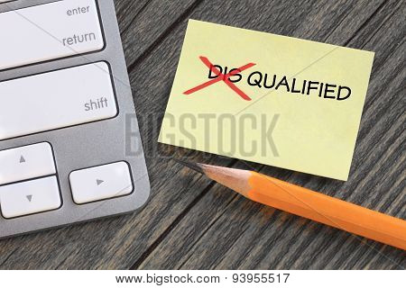 change of disqualified to qualified