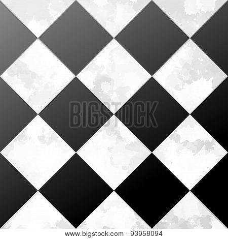 ceramic chessboard floor