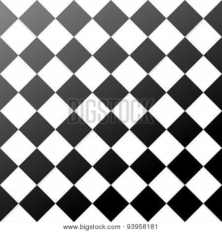 ceramic tiles black and white chess board seamless pattern
