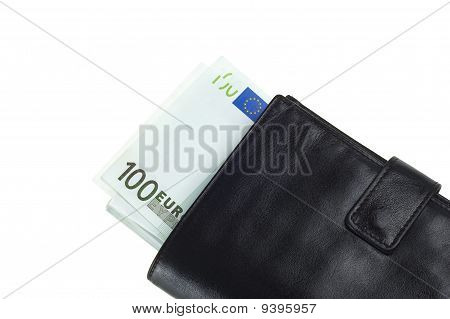 Leather Wallet And Euros