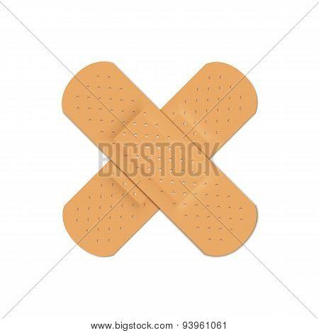 Vector Bandage Plaster Aid Band Medical Adhesive Set Isolated on White Background poster