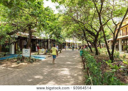 PRAIA DO FORTE, BAHIA - CIRCA NOV 2014: The small city of Praia do Forte in Bahia, Brazil.