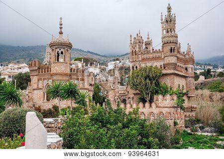 Exterior Of Colomares Castle. Benalmadena Town, Spain