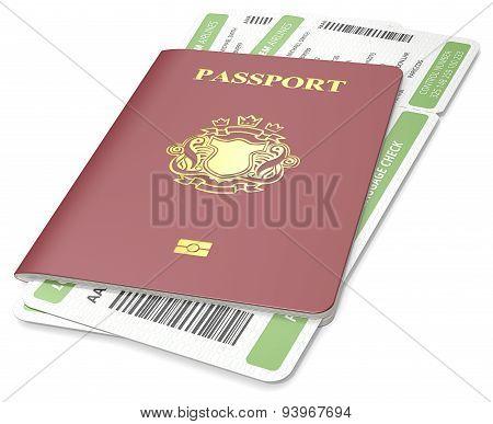 Passport And Ticket.