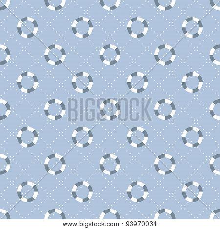 seamless nautical pattern with lifebelt