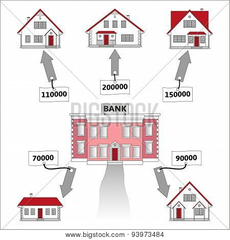 Infographics: mortgage loan as a cash flow.