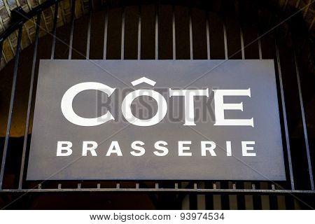 Cote Brasserie Restaurant Sign