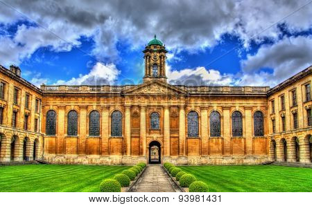 The Main Quad Of The Queen's College In Oxford
