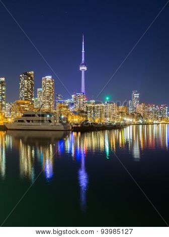 Toronto Downtown At Dusk