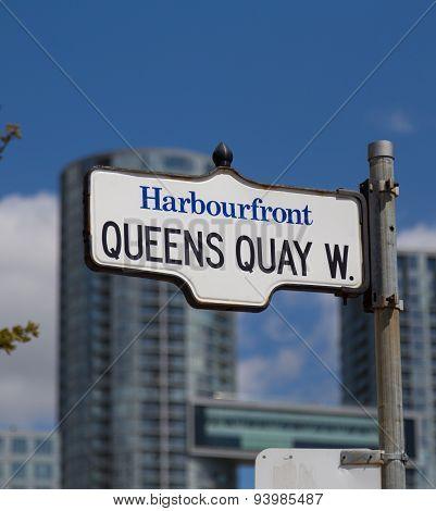 Queens Quay West In Toronto