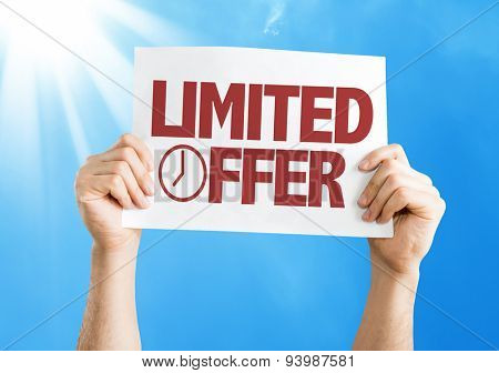 Limited Offer card with sky background
