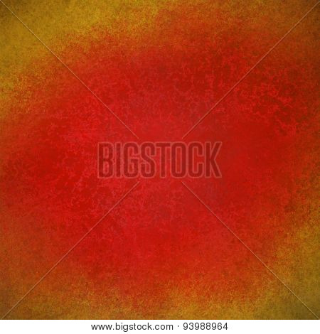 red background with gold border grunge