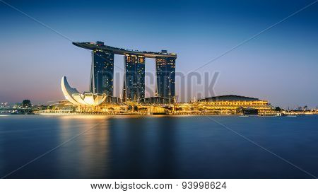 The Marina Bay Sands in The Morning.