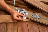 Ipe decking deck wood installation screws clips and fasteners poster