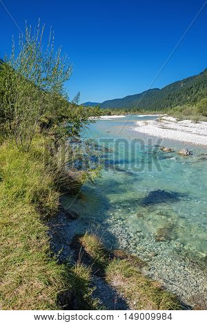 Turquoise Isar River