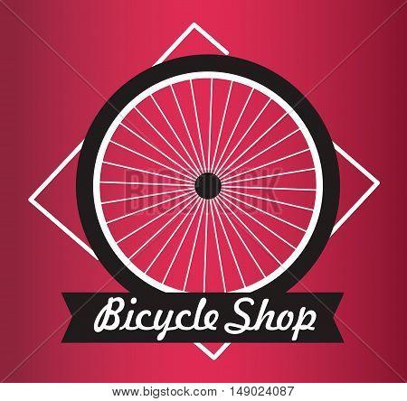 Bicycle Shop Vector Logo Design - Bicycle Repair Service Logo - Bicycle Club Elements Logo. red