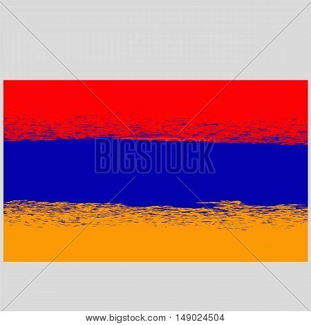 Grunge Flag of Armenia. Armenian Symbol of Independence.