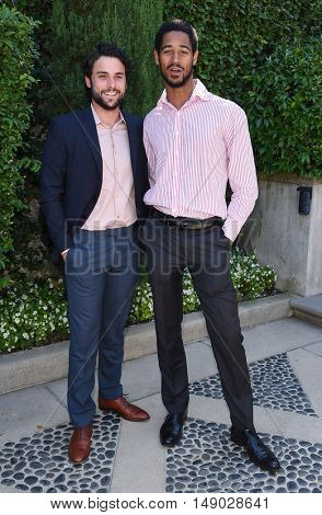 LOS ANGELES - SEP 25:  Jack Falahee and Alfred Enoch arrives to The Rape Foundation Annual Brunch on September 25, 2016 in Beverly Hills, CA