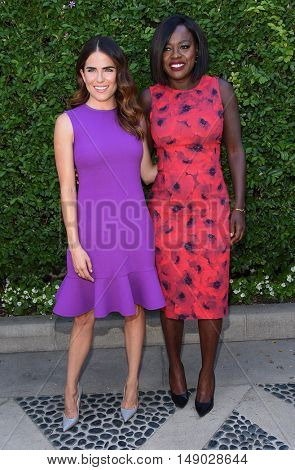 LOS ANGELES - SEP 25:  Karla Souza and Viola Davis arrives to The Rape Foundation Annual Brunch on September 25, 2016 in Beverly Hills, CA