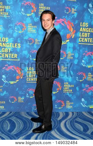 LOS ANGELES - SEP 24:  Hayden Byerly at the Los Angeles LGBT Center 47th Anniversary Gala Vanguard Awards at the Pacific Design Center on September 24, 2016 in West Hollywood, CA