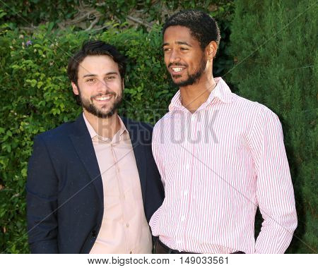 LOS ANGELES - SEP 25:  Jack Falahee, Alfred Enoch at the The Rape Foundation's Annual Brunch at the Private Residence on September 25, 2016 in Beverly Hills, CA