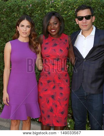 LOS ANGELES - SEP 25:  Karla Souza, Viola Davis, Conrad Ricamora at the The Rape Foundation's Annual Brunch at the Private Residence on September 25, 2016 in Beverly Hills, CA