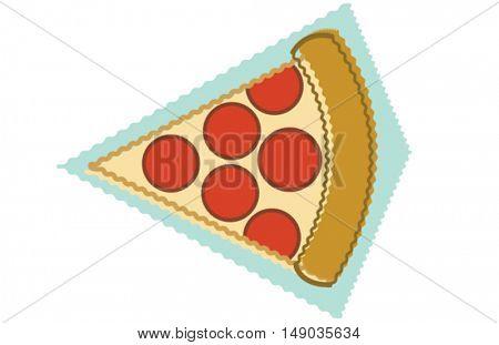 retro pizza slice