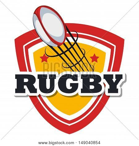 rugby ball flying design vector illustration eps 10