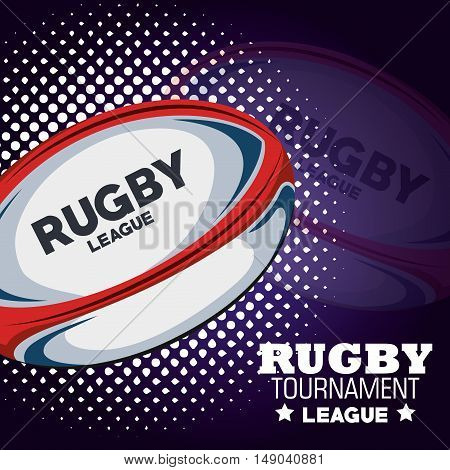 rugby tournament league ball and dots vector illustration eps 10
