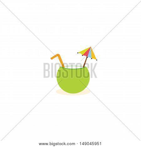 Green coconut wate of vector EPS 10