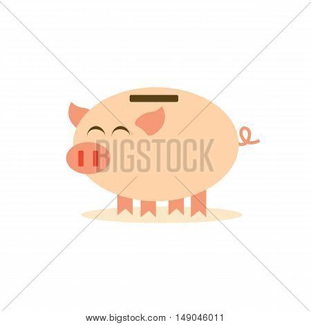 cartoon piggy bank of vector EPS 10
