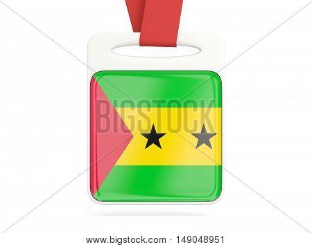 Flag Of Sao Tome And Principe, Square Card