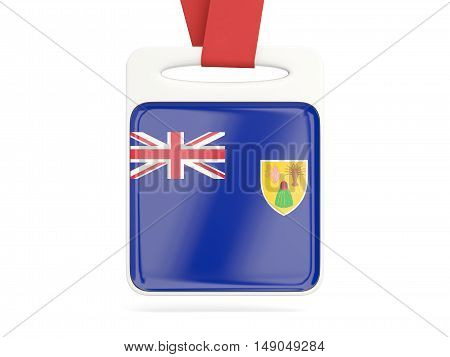 Flag Of Turks And Caicos Islands, Square Card