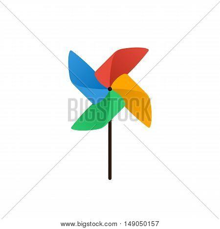 Pinwheel icon flat design isolated on white background vector illustration