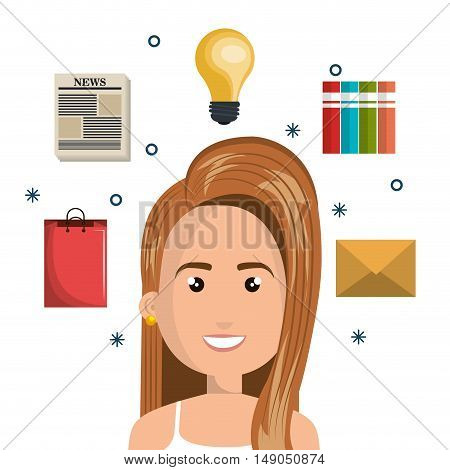 character woman multitask design graphic isolated vector illustration eps 10