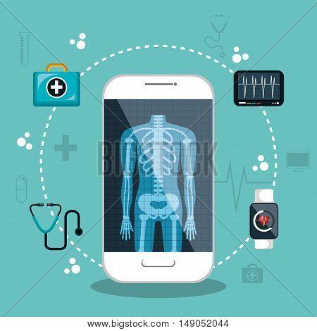 health app medical digital healthcare vector illustration eps 10