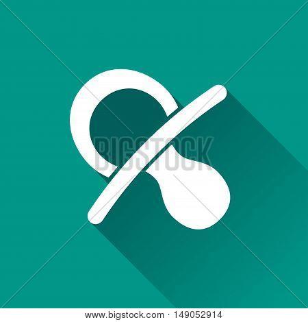 Illustration of nipple design icon with shadow