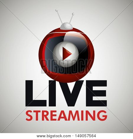 tv video play live streaming graphic vector illustration eps 10