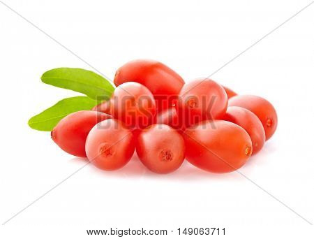 Berry goji with leaf